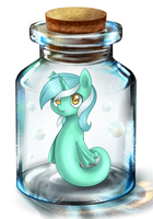 Lyra in bottle by ILightningStarI