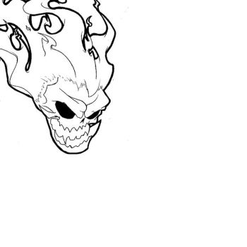 Flaming skull??? by the--Z