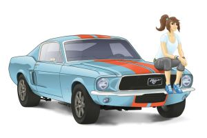 Rainbow Mustang (Pony girls with pony cars series) by Mozgan