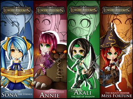 LoL - Bookmarks Set 2 by tenzeru-chan