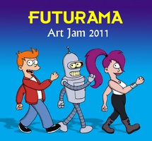 Futurama 2011 Art Jam by Yeldarb86