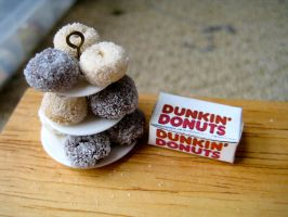miniature doughnuts by AlliesMinis