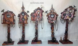 Steampunk Houses by marilm