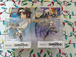 Japanese amiibo - Pit and Captain Falcon by UKD-DAWG