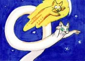 Longcat and Speedycat ATC by applescruff