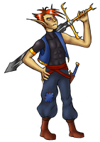 Guy with skull sword by Jedni