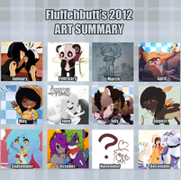 2012 Art Summary by FluffehButt