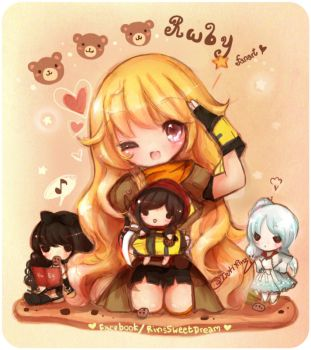 Rwby dolls by tsukirinz