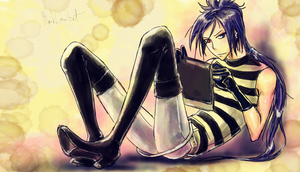 Rokudo Mukuro and Tablet by BlackLawliet