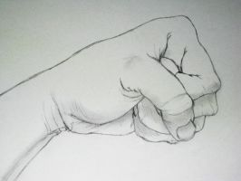 Clench your fist by Shruika