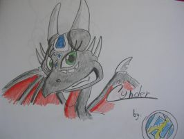 Cynder for Lighiting-Dragon by IcelectricSpyro