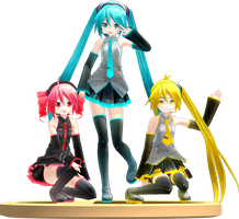 MMD Trophy: Appearance Teto,Miku and Neru by Rea-Usax