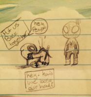 Dead pool and Spider-Man doodle by razpberrycake