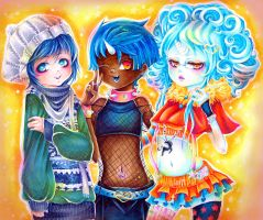 Illusionary Trio, Modern Twist! by BlueRoseArkelle