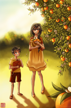 Orange blossoms by retropiink