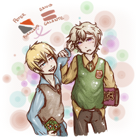 Hetalia Sealand x Latvia by Makubi