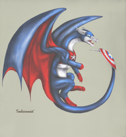 Captain America Dragon by Imbecamiel
