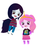 Marceline and Princess Bubblegum Chibi by Chibi-Diaries