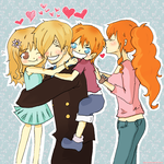 Daddy loves you, sweeties! ~ by IcchPOTATO