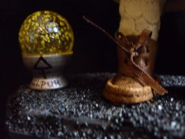 Creepy Orphan shoes and sphere by SoDarkSoCute