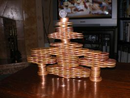 werid coin tower I made by Insane-Rob