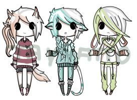 Hooded Kemonomimi adoptsa ::CLOSED:: by Voodoo-Elf