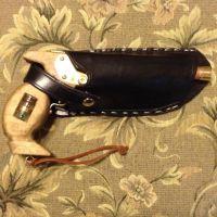Leather Steampunk cross draw pistol holster by tk8247
