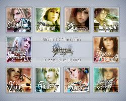 Dissidia 012 icon pack by demeters
