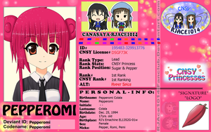 CNSY ID: Pepperomi by RJAce1014