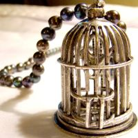 Storybook Birdcage Necklace by SteamSociety