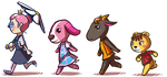 [acnl] favorite villagers parade by RitsuBel
