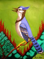 Blue jay Painting by Nino666