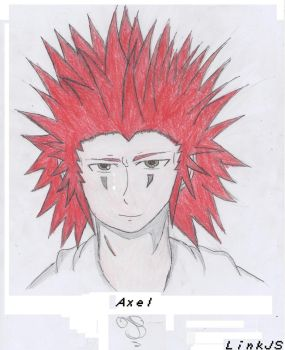 The Legend Of Kingdom Hearts: Artwork 2: Axel by LinkJS