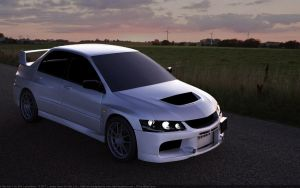 Mitsubishi Lancer Evolution IX GSR by Splicer436