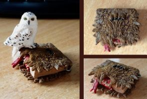 Mini-Hedwig+Monster Book of Monsters by EerieStir