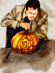 Happy Halloween from Castiel by Falthee