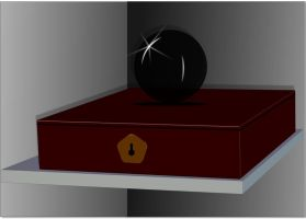 Orb and Box with reflection by GeneLythgow