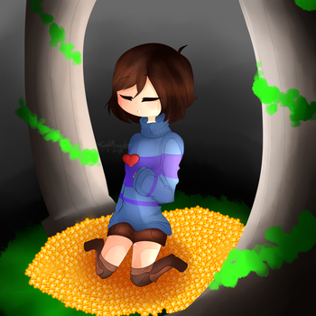 Frisk |A Human Fall By Underground| by GirlAngelDrawings