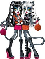 Official Monster High Purrsephone and Meowlody by MonsterGuy13