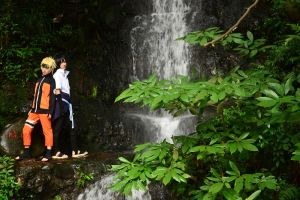 NaruSasu_next to the Waterfall by Lilia92x