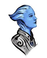 Liara T'soni tattoo (colored) by Northwolf89