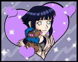 Hinata with Neopet Coloured by PixlPhantasy