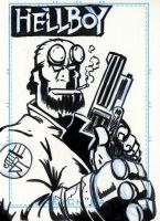 Sketchcard: Hellboy by Dub-T