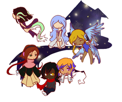 Beyond Sanity::Chibi Cast by Vae-Halo3