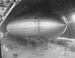 USS Macon-construction-1933 by lichtie