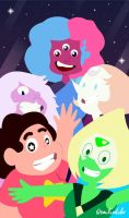 We are the crystal gems! by milo-cura