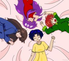 Ranma : Sleeping girls by Ptitukyo