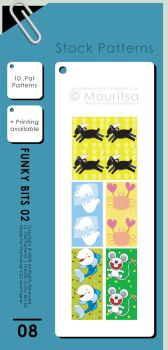 Pattern Pack - Funky Bits 02 by MouritsaDA-Stock