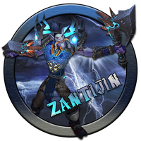 Zantijin Warcraft Character Button by BesoYT