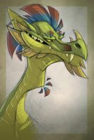 Dragon portrait by TheTundraGhost
